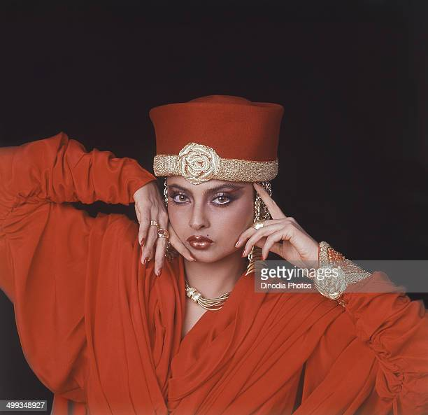 1990 Portrait of Indian film actress Rekha