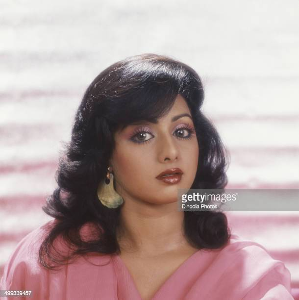 1990 Portrait of Indian film actress Sridevi