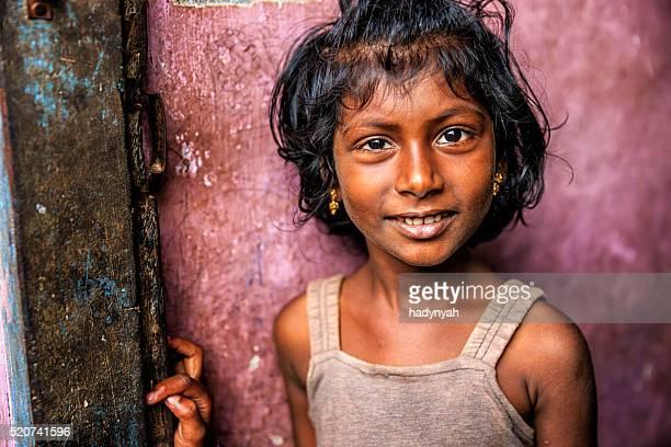Portrait of Indian little girl, Kerala, India