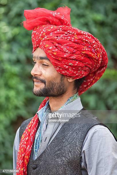 Portrait of Indian man wearing a turban