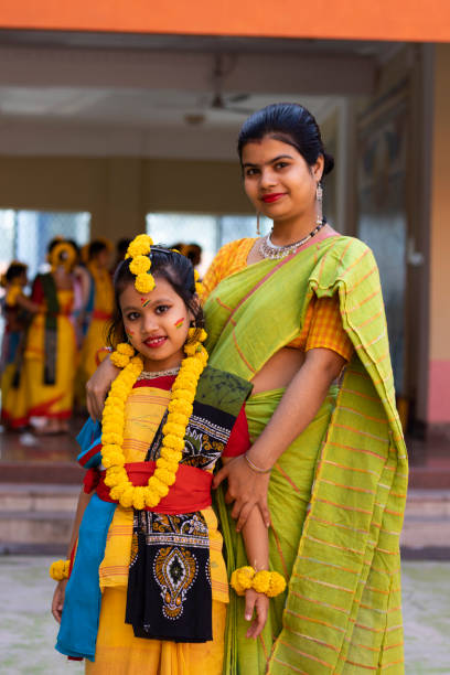 Portrait Of Indian Mother And Daughter