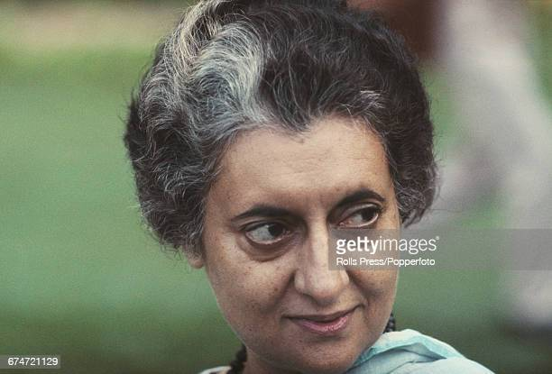 Portrait of Indian politician and Prime Minister of India Indira Gandhi pictured at an engagement on 19th November 1969