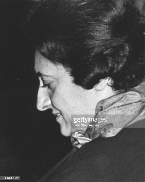 Portrait of Indian Prime Minister Indira Gandhi 1960
