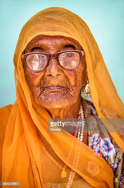 Portrait of Indian senior woman