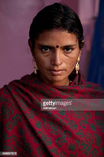 Retrato de mujer India