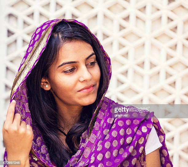 portrait of indian woman - graphixel stock pictures, royalty-free photos & images