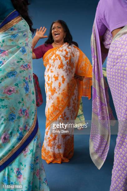 portrait of indian women dancing - women's rights stock pictures, royalty-free photos & images