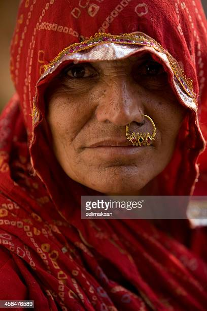 Portrait of Indian women with nose ring