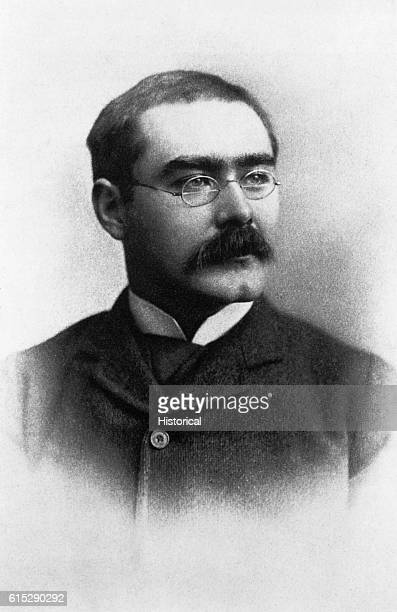 """Portrait of Indian-born British writer Rudyard Kipling . His works of fiction, such as """"Gunga Din,"""" """"The Jungle Book"""" and """"Just So Stories,"""" feature..."""