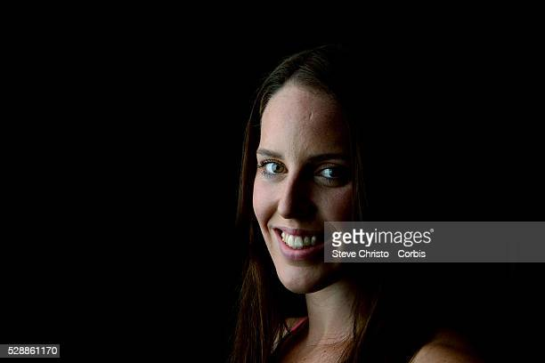 Portrait of Individual Medley swimmer Alicia Coutts at the Brisbane Aquatic Centre Brisbane Australia Sunday 6th April 2014