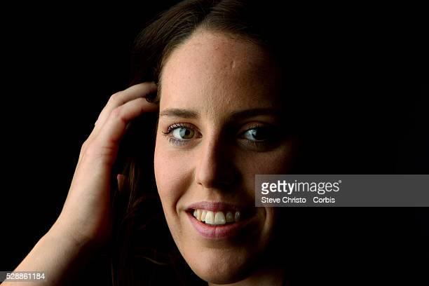 Portrait of Individual Medley swimmer Alicia Coutts at the Brisbane Aquatic Centre Brisbane Australia Sunday 6th April 2014