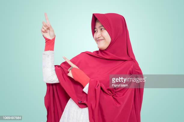 portrait of indonesian muslim girl - teenagers only stock pictures, royalty-free photos & images