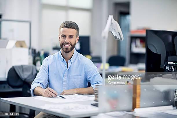 Portrait of Industrial designer in the office