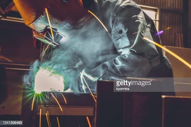 portrait of industrial worker - kyonntra stock pictures, royalty-free photos & images