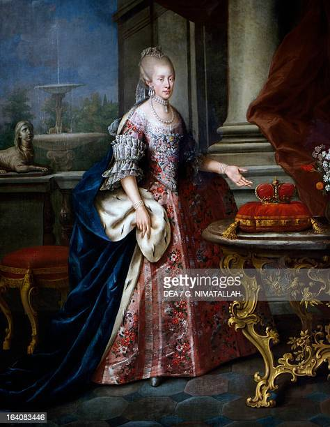Portrait of Infanta Maria Luisa of Spain , Empress consort of Leopold II , emperor of the Holy Roman Emperor and Grand Duke of Tuscany . Florence,...