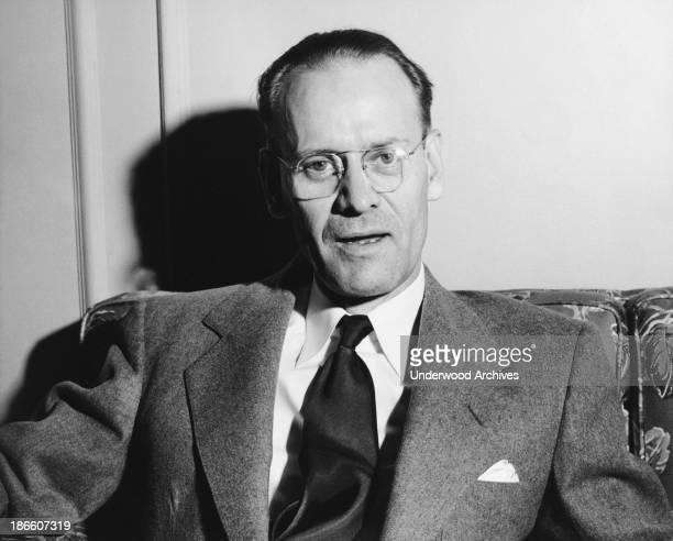A portrait of inventor and television pioneer Philo Farnsworth San Francisco California 1950