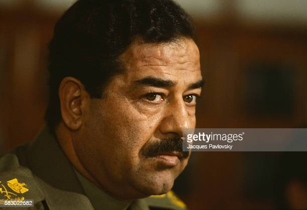 Portrait of Iraqi leader Saddam Hussein