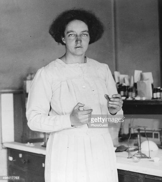 Portrait of Irene Curie daughter of Pierre and Marie Curie 1925 She obtained her doctorate the same year