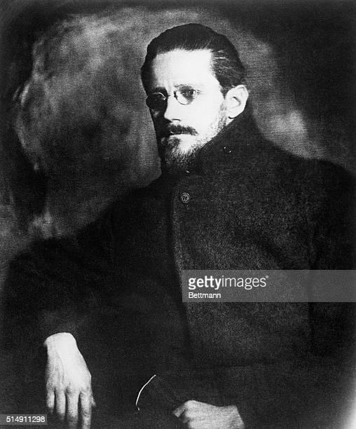 Portrait of Irish author James Joyce in 1919