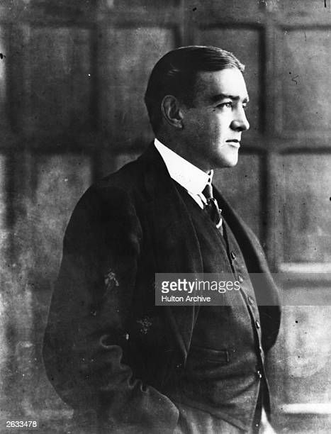 Portrait of Irish explorer Sir Ernest Henry Shackleton circa 1910