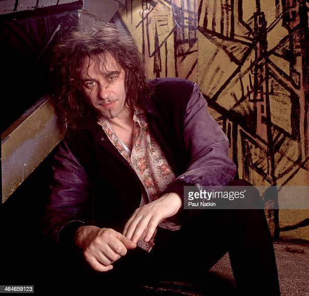 Portrait of Irish musician Bob Geldof as he poses backstage at an unspecified venue Chicago Illinois May 3 1993