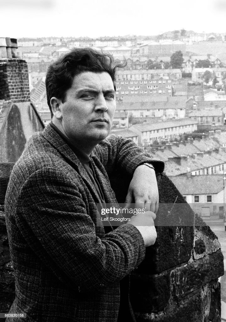Portrait of Irish politician (and future leader of the Social Democratic and Labour Party) John Hume as he poses on a rooftop that overlooks the Catholic Bogside neighborhood, Londonderry (or Derry), Northern Ireland, 1970. He went on to win a Nobel Peace Prize for his role in various agreements, including the Good Friday Agreement, during the Northern Ireland peace process.