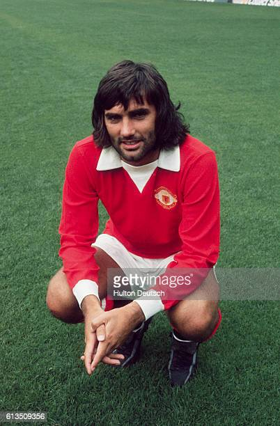 Portrait of Irish soccer player George Best. He was leading scorer for Manchester United during 1967-68 and won a European Cup medal and European...