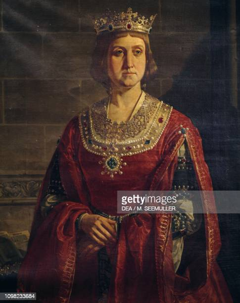 Portrait of Isabella I of Castile known as Isabella the Catholic Queen of Castile and Leon by an unknown artist oil on canvas