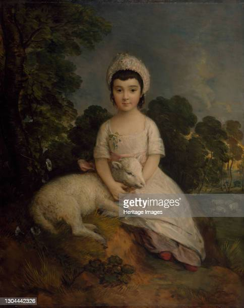 Portrait of Isabelle Bell Franks. Isabella's parents belonged to one of the leading Jewish families in eigtheenth century London. Artist Thomas...