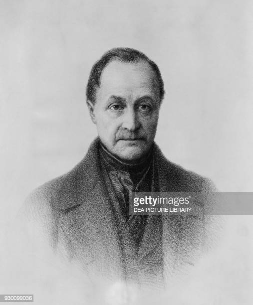 Portrait of Isidore Marie Auguste Francois Xavier Comte French philosopher who founded the discipline of sociology and the doctrine of positivism...