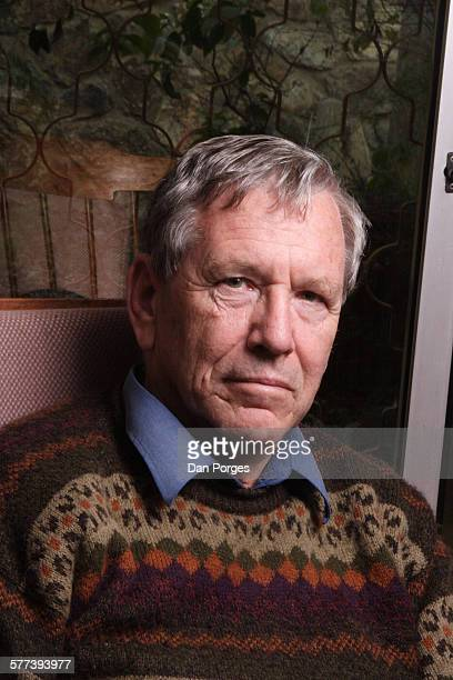 Portrait of Israeli author Amos Oz as he poses in his study, Arad, Israel, July 19, 2007.