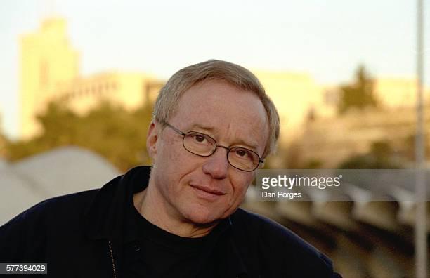Portrait of Israeli author David Grossman as he poses outdoors, Jerusalem, Israel, December 19, 2004.