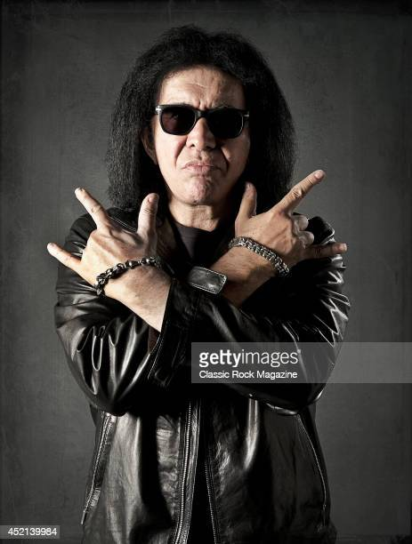 Portrait of Israeli-American musician Gene Simmons, bassist and vocalist with American rock group Kiss, taken on September 30, 2013.