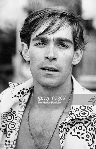Portrait of Italian actor and singer Fabio Testi. Milan, 1971