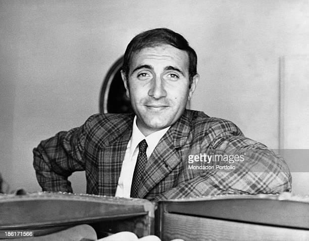 Portrait of Italian actor and TV presenter Pippo Baudo Italy October 1967