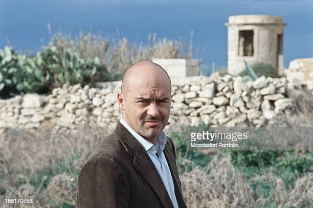 Portrait of Italian actor Luca Zingaretti in the TV miniseries Inspector Montalbano Sicily 2000