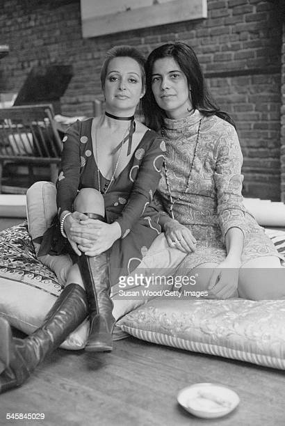 Portrait of Italian actress Adriana Asti and American author critic and film director Susan Sontag 1970 Sontag directed Asti in her 1969 film 'Duet...