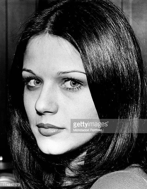 Portrait of Italian actress Agostina Belli Milan 1973