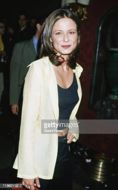 Portrait of Italian actress Aitana SanchezGijon Madrid Spain 1991
