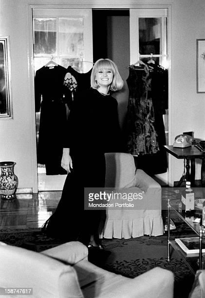 Portrait of Italian actress and singer Carmen Villani Milan 1970s