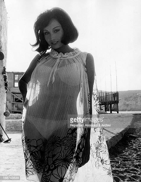 Portrait of Italian actress and singer Maria Grazia Buccella 1960s