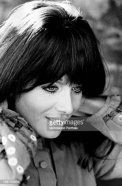 Portrait of Italian actress and singer Maria Grazia Buccella Rome 1970s