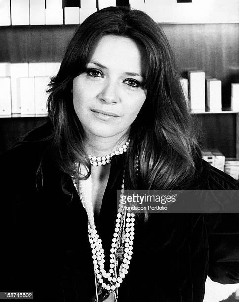 Portrait of Italian actress and TV presenter Laura Efrikian . Rome, 1970s