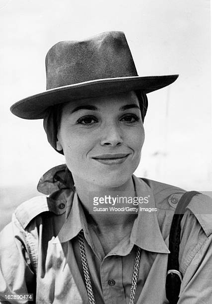 Portrait of Italian actress Elsa Martinelli during the filming of 'Hatari' Tanzania 1962