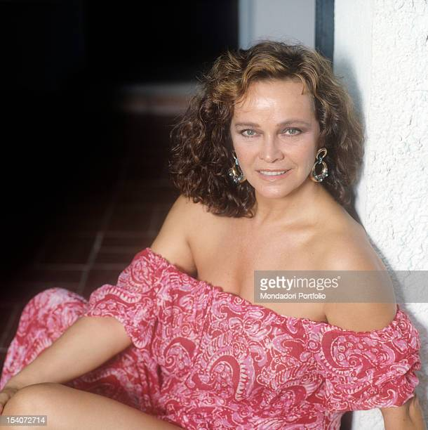 Portrait of Italian actress Laura Antonelli 1989