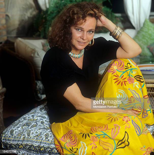 Portrait of Italian actress Laura Antonelli dressed as a gipsy 1989