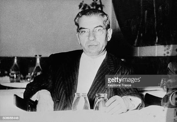 Portrait Of Italian American Mobster Lucky Luciano Father Of Modern Organized Crime in the United States circa 1962