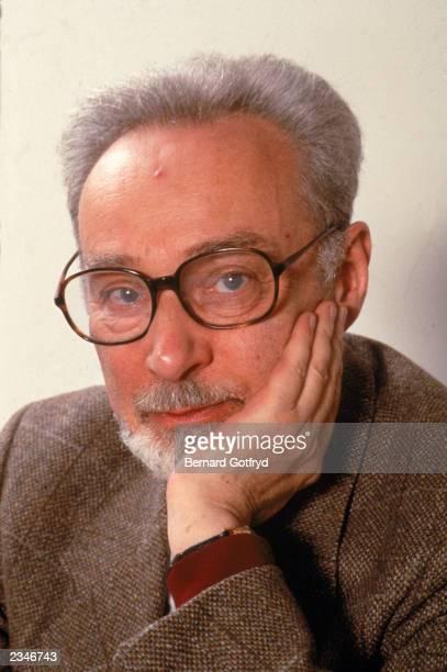 Portrait of Italian author and chemist Primo Levi 1985