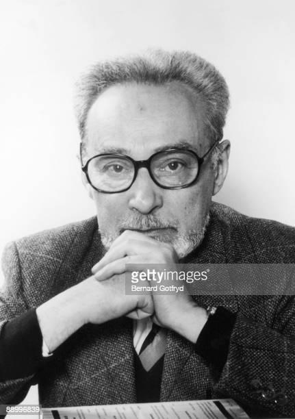 Portrait of Italian author and Holocaust survivor Primo Levi 1985