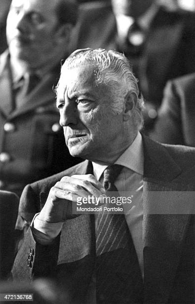 'Portrait of Italian businessman and politician Gianni Agnelli Italy 1970s '